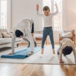 Children doing exercise