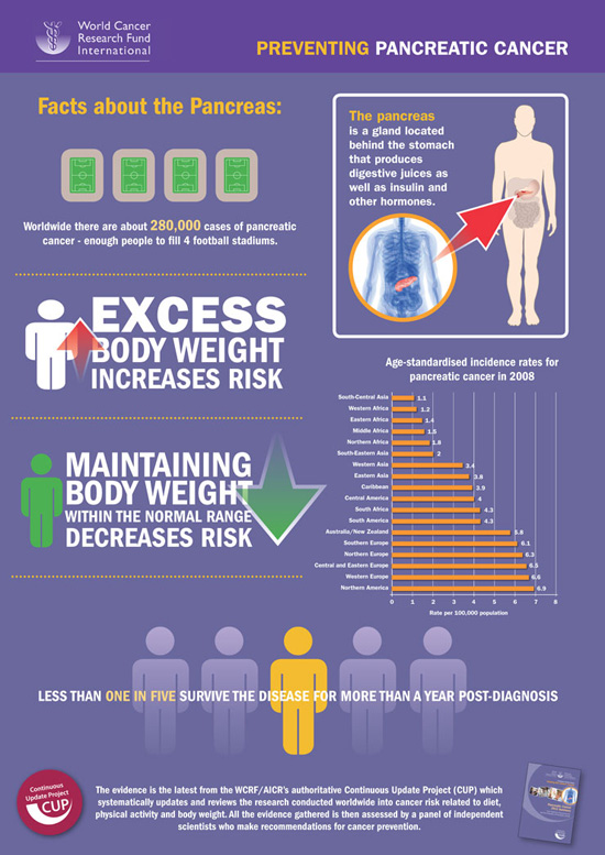 WCRF Pancreatic Cancer infografic